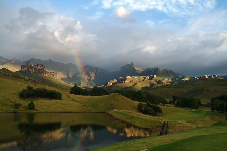 Rainbow in the mountains http://www.n3gateway.com/the-n3-gateway-route/southern-drakensberg-community-tourism-organisation-sdcto.htm