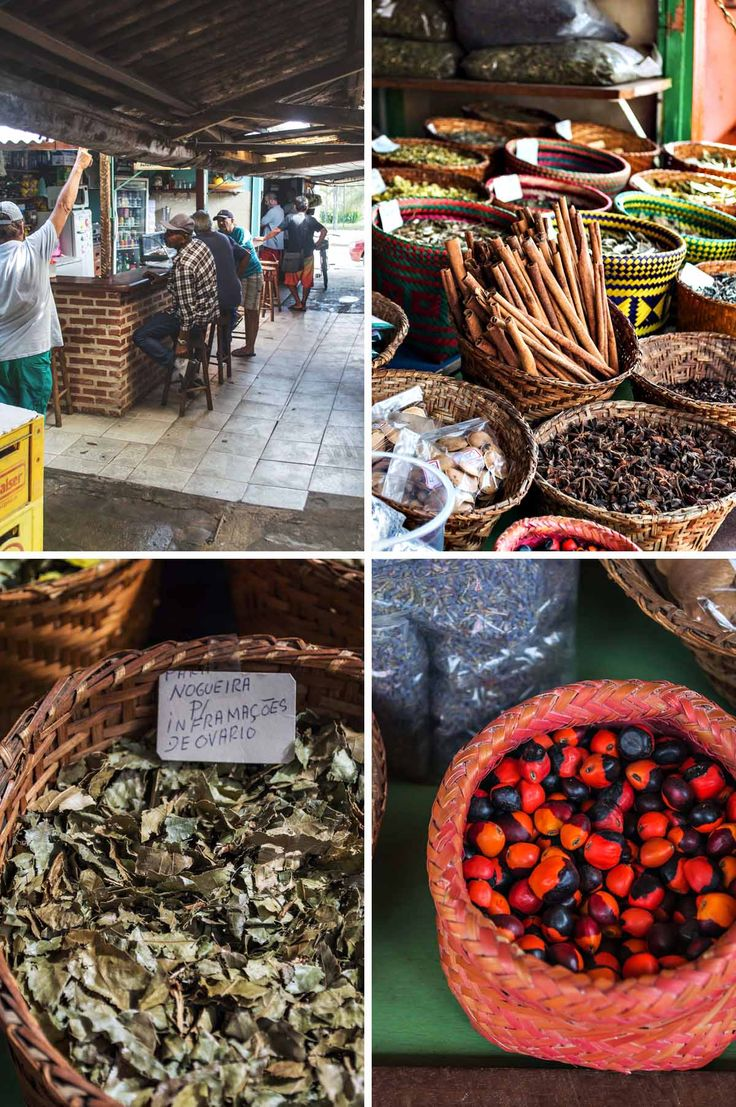 Dried herbs and spices available in Paraty, Brazil | heneedsfood.com