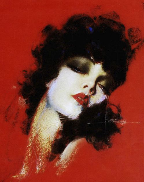 Rolf Armstrong, 1930s i like the way the the lines are undefined