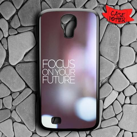 Blurred Quotes Samsung Galaxy S4 Black Case
