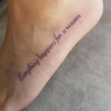 Quote Small Foot Tattoo
