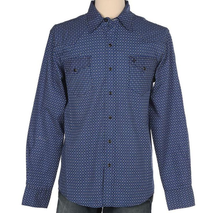 Cinch Men's Garth Brooks Sevens Blue Printed Long Sleeve Shirt [HTW4000003]
