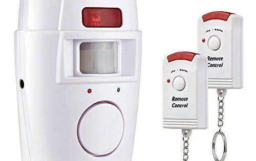 KERUI – Alarme sans fil Infrarouge Détecteur de Mouvement Sirène 105 dB Sécurité Maison / Garage / Abri de Jardin / Caravane, Camping-Car –…