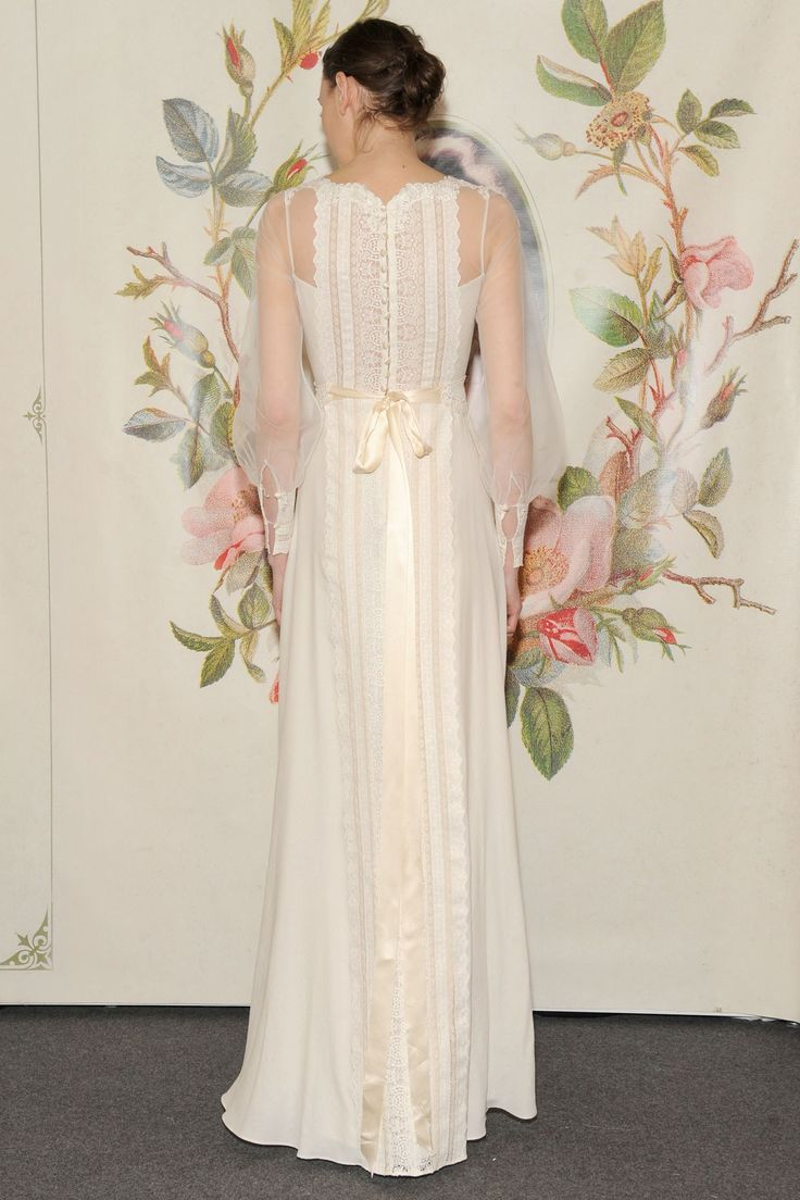 Claire Pettibone 'Delaney' wedding gown www.clairepettibone.com/bridal | Decoupage Collection | Photo: WWD/Steve Eichner via Brides Magazine UK
