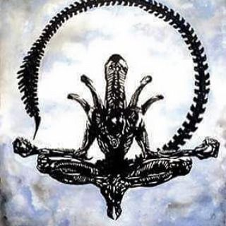 """""""Xenomorph or should that be Zen -o-morph original acrylic large canvas by Maverick Icons £140 instore now #alien #hrgiger #xenomorph #fantasy art"""" Photo taken by @diversionsgifts.co.uk on Instagram, pinned via the InstaPin iOS App! http://www.instapinapp.com (07/02/2015)"""