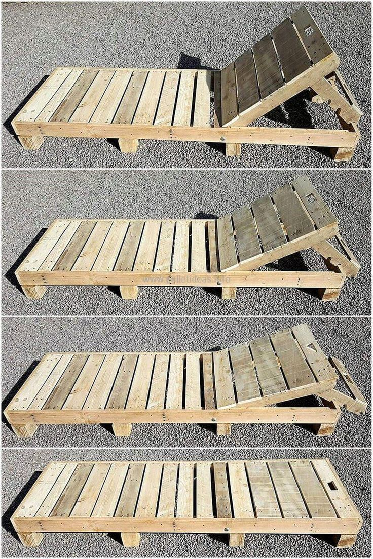 This wood pallet sun lounger is a simple but the most-attractive wood pallets project. You can place this gorgeous piece of artwork at the corner of your swimming area to take sunbath after swimming. Reshape your place with these mind-blowing pallet plans.