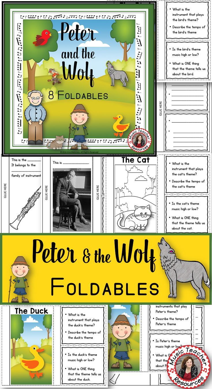 31 best Music Class - Peter and the Wolf images on Pinterest ...