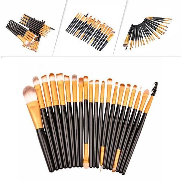20Pcs Pro Makeup Brushes Set #makeup #brushes #promakeup #brushset #affordable #goodquality