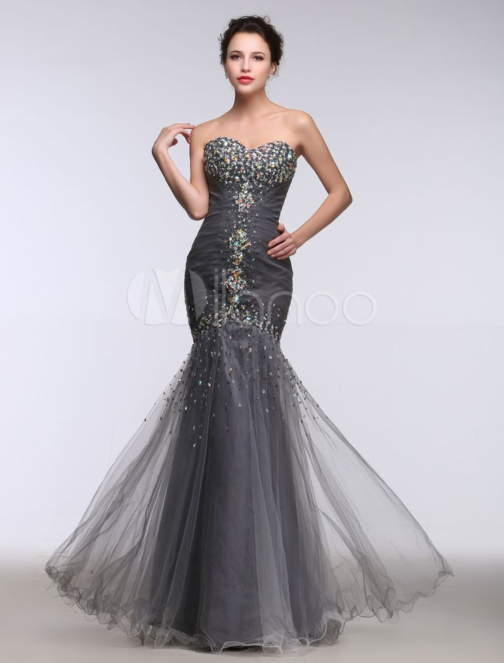 10  ideas about Grey Evening Dresses on Pinterest  Military ball ...