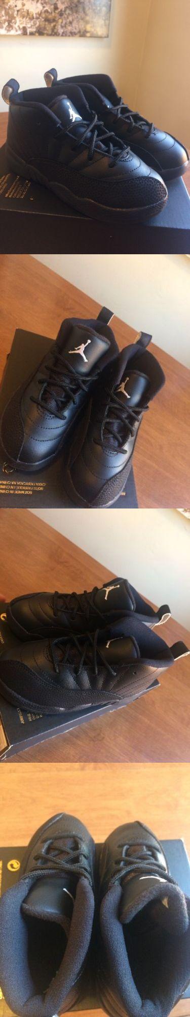 Baby Shoes 147285: Air Jordan Retro 12 Bt Master Black White-Black- Gold Size 9C 10C (850000-013) -> BUY IT NOW ONLY: $79.99 on eBay!