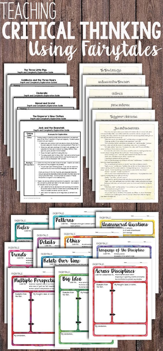 81 best critical thinking images on pinterest activities adult teaching critical thinking using fairytales add some depth and complexity to your instruction and student fandeluxe Image collections