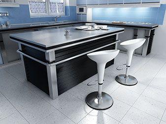 meja island dapur modern