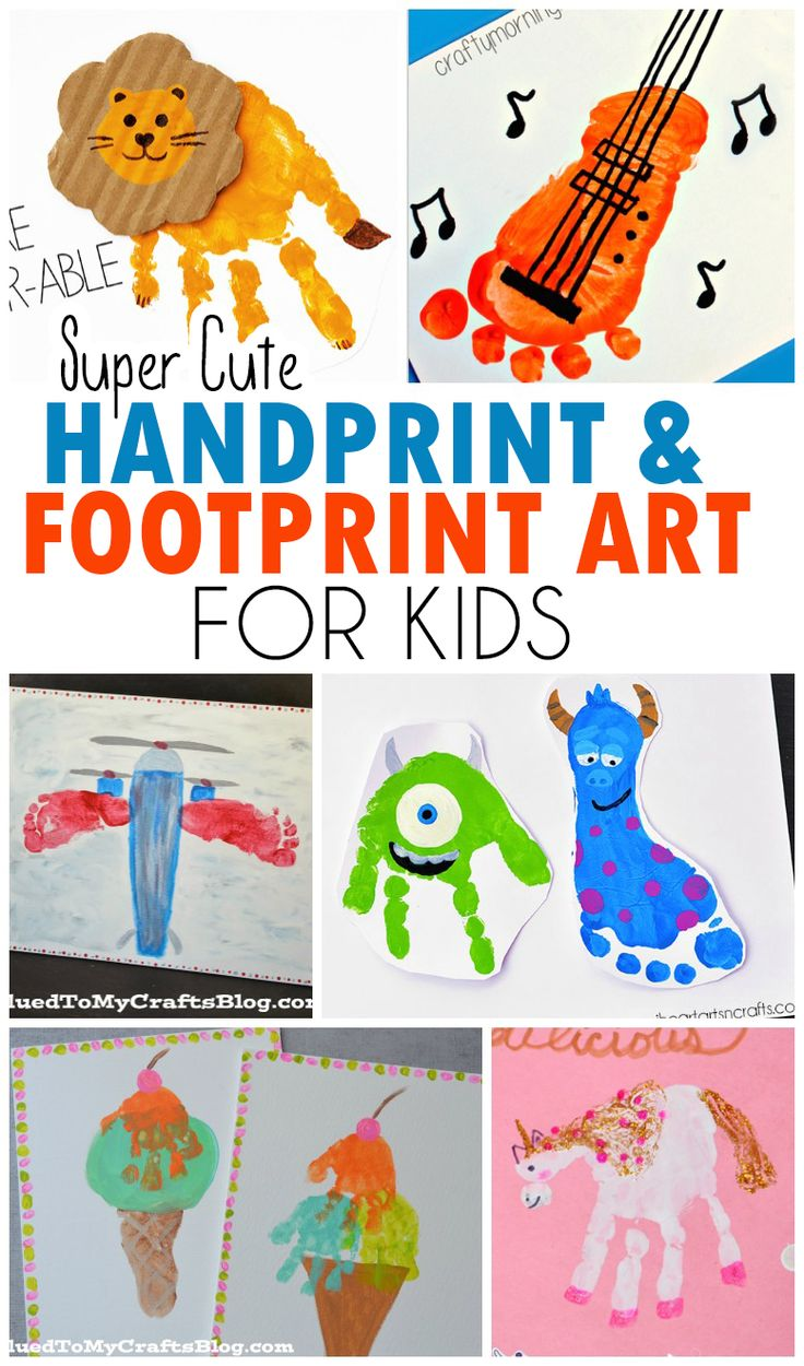 Handprint & Footprint Art pour enfants – Roundup