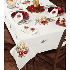 Nob Hill™ Three Yellow Candles Table Linens Stamped...