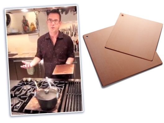Copper Heat Diffusers by   https://opensky.com/tedallen/product/copper-heat-diffusers