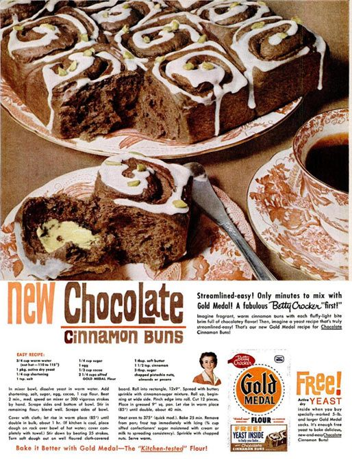 New Chocolate Cinnamon Rolls | Gold Medal Flour | http://3.bp.blogspot.com/-ObzBU5_QBow/TaBPLdOC9PI/AAAAAAAAEJc/bq8JvE_pmZM/s1600/cinnamon+buns.jpg