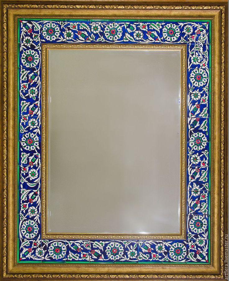 Купить Роспись плитки Роспись зеркала Турецкий ковер - зеркало, зеркало настенное