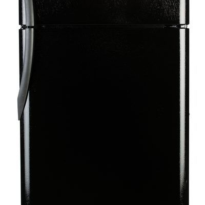how to clean a shiny black refrigerator