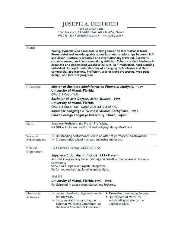 Free Resume Templates English Free Resume Templates Pinterest