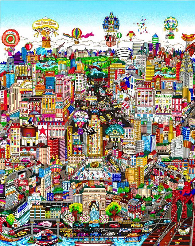 Charles Fazzino - Manhattan Will Make You Feel Brand New