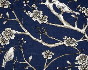 bird theme curtain panels – Etsy