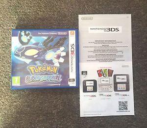 a sin juego pokemon alpha sapphire version estuche y folletos solo nintendo 3 ds 2 ds
