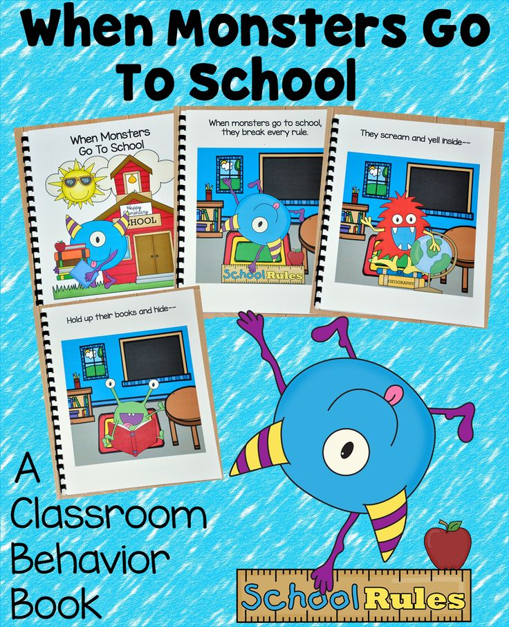"""Introduce and review classroom behavior expectations with this fun freebie.  """"When Monsters Go to School,"""" teaches appropriate classroom behavior through a fun and silly story.  This freebie will be available from June 15th to October 30th, 2015."""