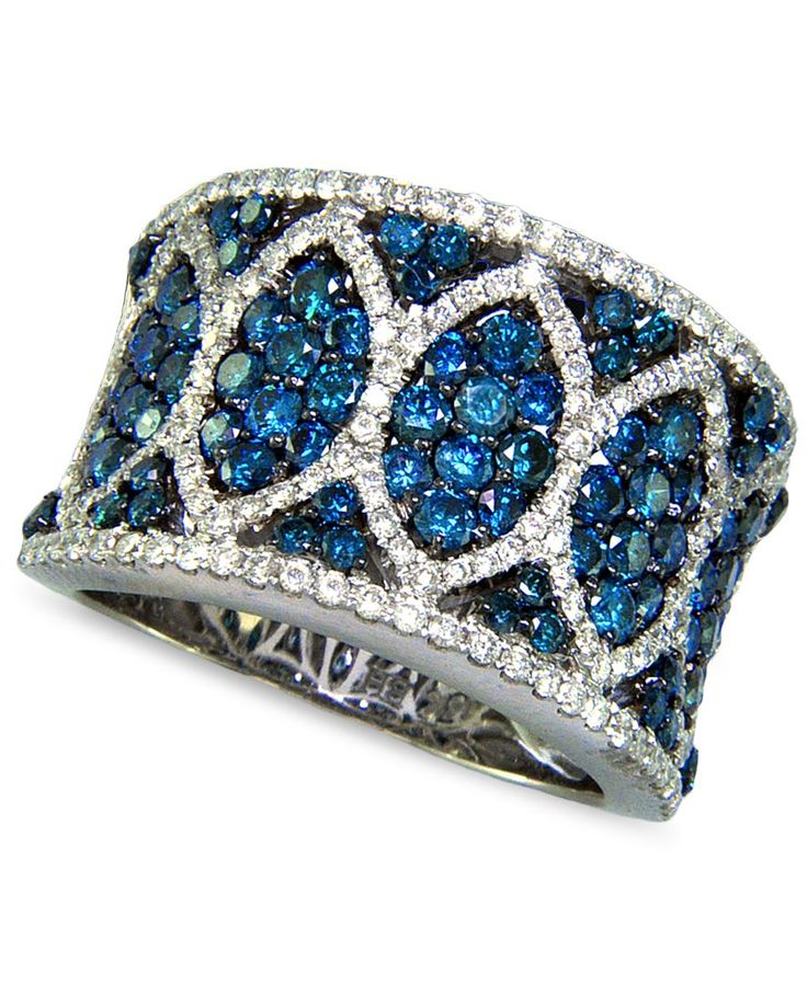 Bella Bleu by Effy White and Caribbean Blue Diamond (2-3/8 ct. t.w.) in 14k White Gold