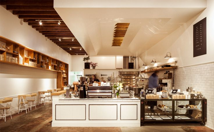 Materials, casual dining, walk up and order, display | The Mill SF San Francisco Hotel Interior Designs