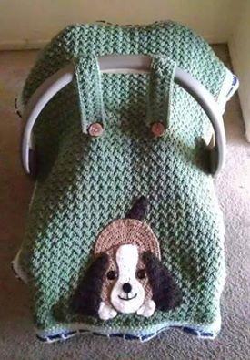 Çocuk pusetleri için örgü battaniye   Örgü Modelleri - Örgü Dantel Modelleri