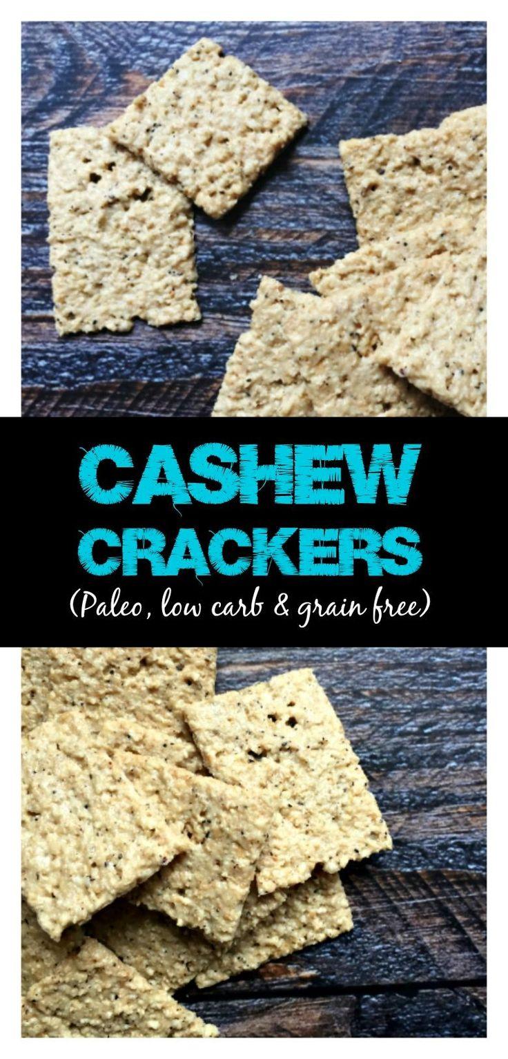 Easy Cashew Crackers (grain free)