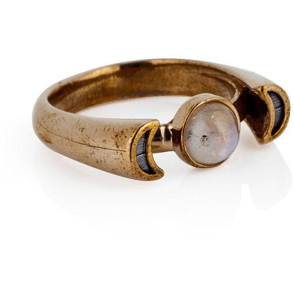 Pamela Love Bronze Luna Ring featuring polyvore women's fashion jewelry rings accessories gold boho jewellery bohemian jewellery boho style jewelry boho jewelry bronze jewelry