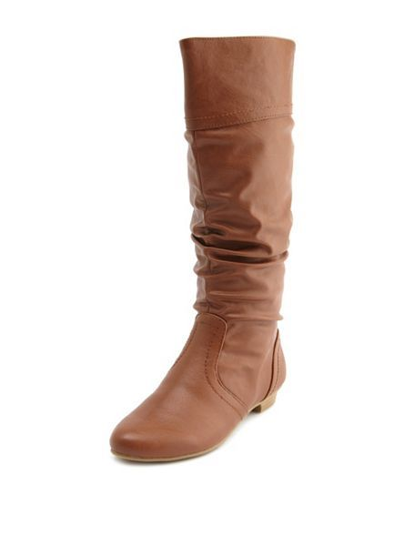 Mini heel mid-calf slouch boot from Charlotte Ruuse