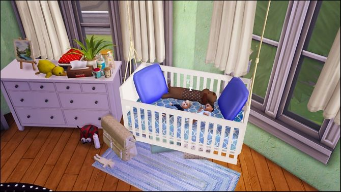 liko 39 s hanging crib converted at dri4na via sims 4 updates sims pinterest hanging crib. Black Bedroom Furniture Sets. Home Design Ideas