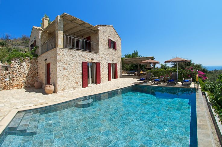 Charming Villa rebuilt from original stone, with its breathtaking views its perfect for any couple http://www.villaplus.com/kefalonia/villas/skala/villa-eboros