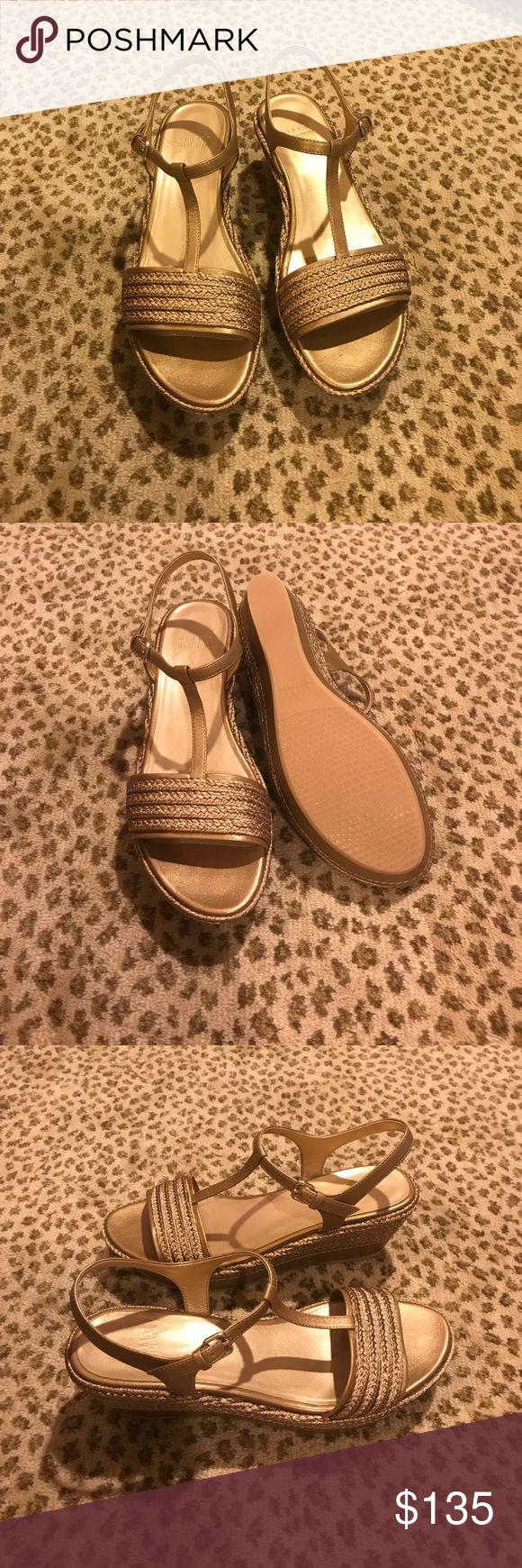 NWOT Stuart Weitzman gold espadrille sandals NWOT Stuart Weitzman gold espadrille sandals. Never worn. Stuart Weitzman Shoes Sandals