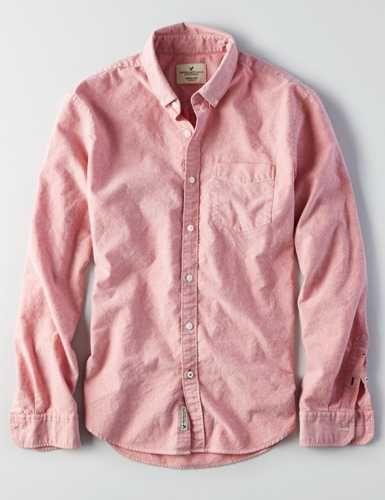 AEO Slim Solid Oxford Shirt