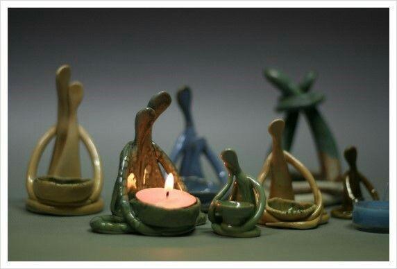 도자기촛대=생각하는 사람들 백자토·색유·1250도산화소성 이효순도예작품.010·7180·6399