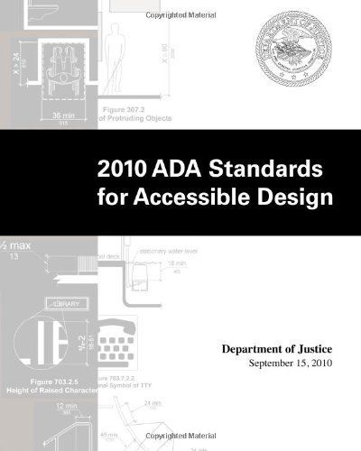 2010 ADA Standards For Accessible Design By Department Of