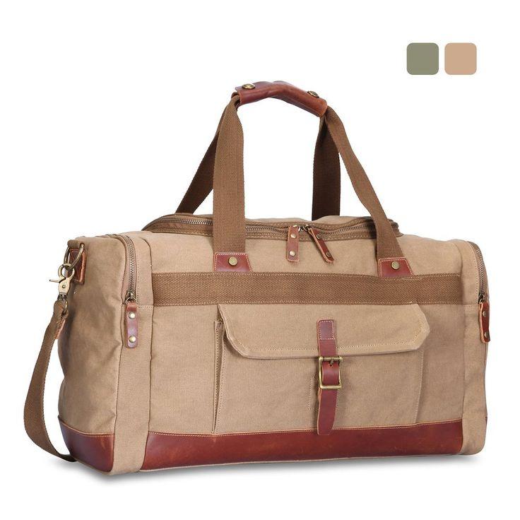 Extra Large Vintage Canvas luggage & travel bags Shoulder Bag