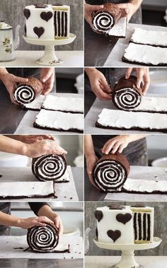Gorgeous Chocolate Stripe Cake