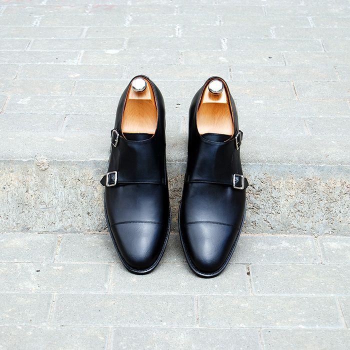 Pantofi Double Monk Strap - Vlad Alexandru - Goodyear welted shoes