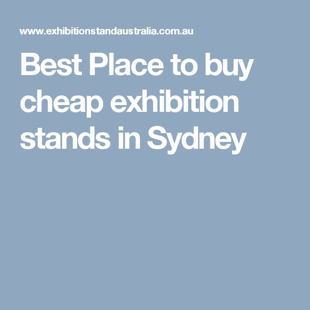 Best Place to buy cheap exhibition stands in Sydney