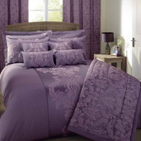 Julian charles delphine luxury designer bedding plum new products pinterest luxury - Look contemporary luxury bedding ...