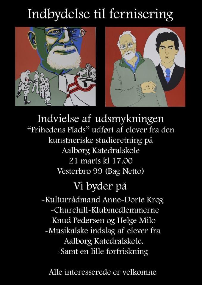 """Fernisering """"Frihedens Plads"""", torsdag 21. marts i Aalborg. Mere info:  http://www.facebook.com/#!/events/359255067524022/"""