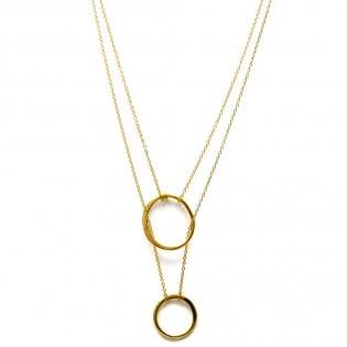 Circle on Circle Kolye  #tarz #original #interesting #tasarım #moda #tasarımcı #design #style #fashion #stylish #chic #ring #necklace #two #pair #circle #golden #gold #kolye #ikili #iki #yüzük #altın