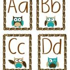 Owl Word Wall Headers Letters - Four sets