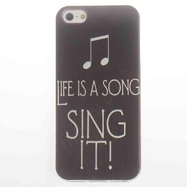 $5.71 Sing It Design Soft Case for iPhone 5/5S – AUD $ 5.71