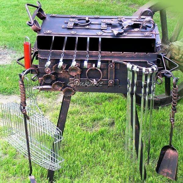 Great Bbq Pit Set Up For The Backyard Perfect Under The: 400 Best Images About BBQ &GRILL& SMOKER On Pinterest
