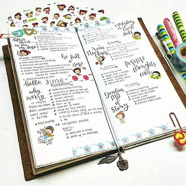 This week has not been so good to me, so i prettified my #bulletjournal with…